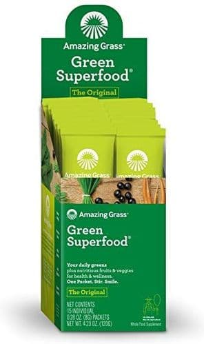 AMAZING GRASS Green Superfood Energy Lemon Lime Sachet Box