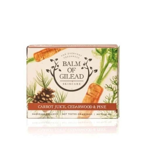 Balm of Gilead Skincare Carrot Juice Cedarwood & Pine Soap