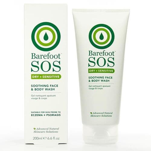 Barefoot SOS dry + sensitive Face and Body rescue wash