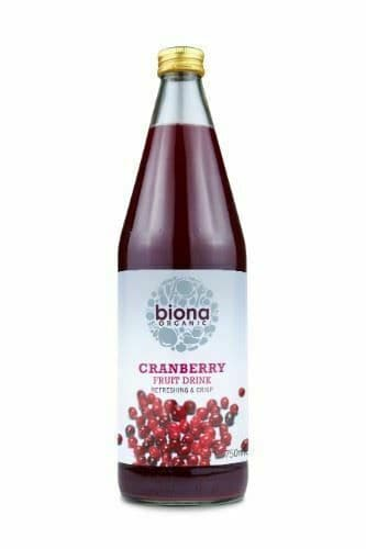 BIONA Organic Cranberry Pure Super Juice 100%