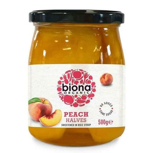 BIONA Organic Peach Halves in Rice Syrup