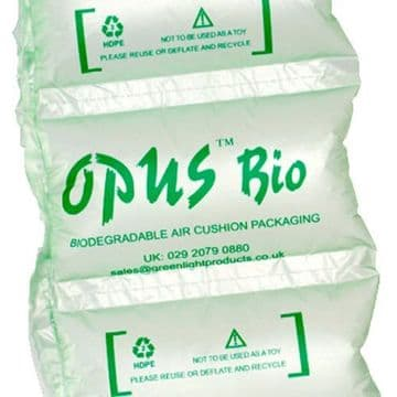 BIODEGRADABLE PRE INFLATED AIR PILLOWS 200x100mm