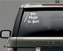 Baby Muggle on board Car Window Vinyl / Sticker Decal