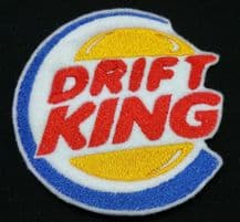 Drift King JDM Embroidered Patch Badge Iron on or sew