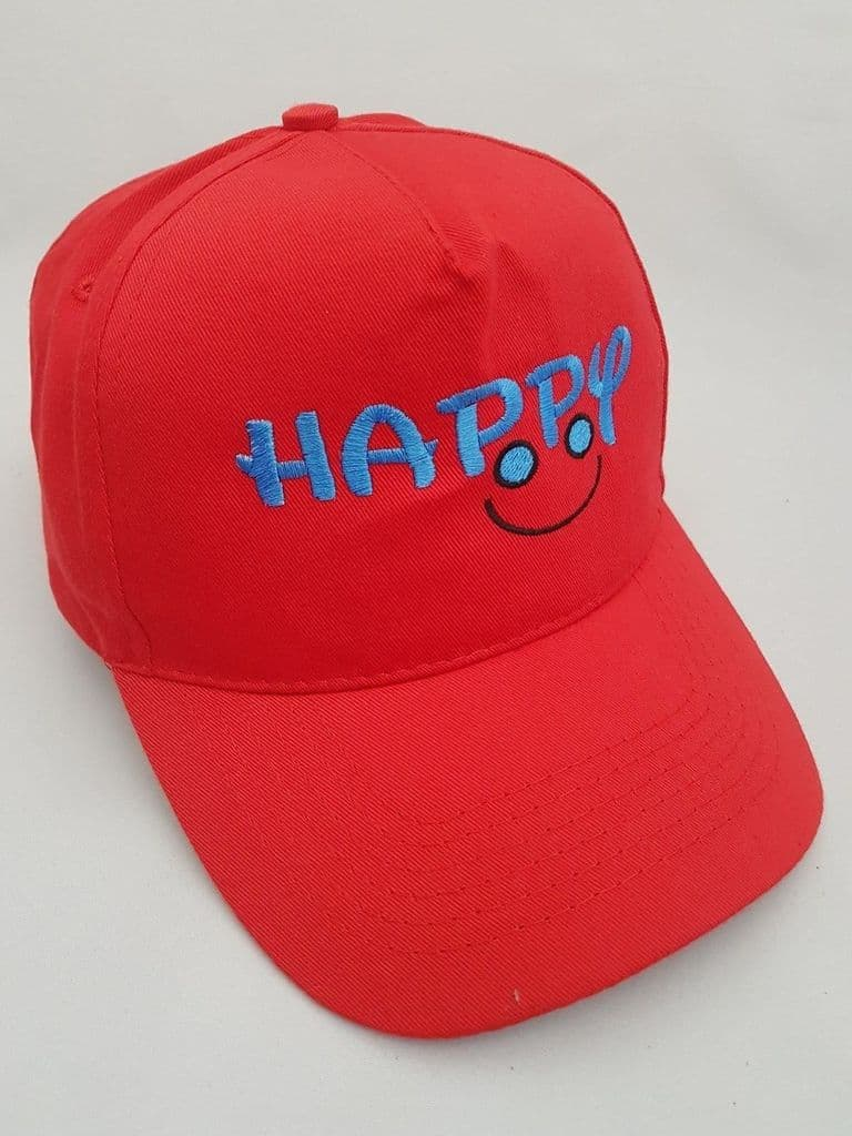 Happy Smile Embroidered base ball cap
