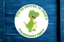 Personalised Birthday Dino Gift Bag, Sticker