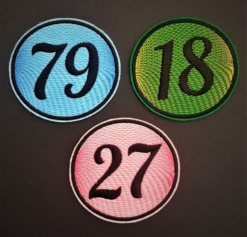 Personalised Embroidered Numbers Patch Badge Girls Boys Iron on or sew