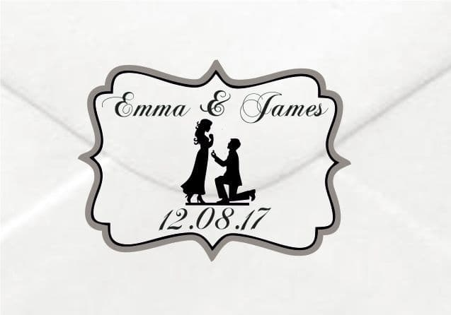 Personalised Wedding The 2 of Us Sticker/Label Envelopes