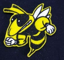 Wasp, Bee Embroidered Patch Badge Iron on or Sew On