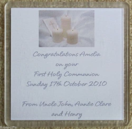 Personalised First Holy Communion Coaster