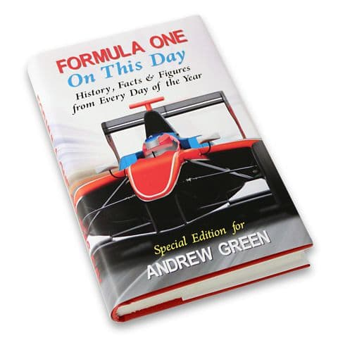 Personalised Formula 1  One On This Day Book