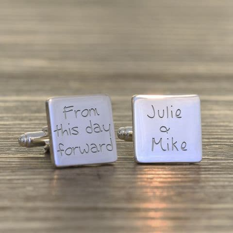 Personalised From This Day Forward Cufflinks - Square
