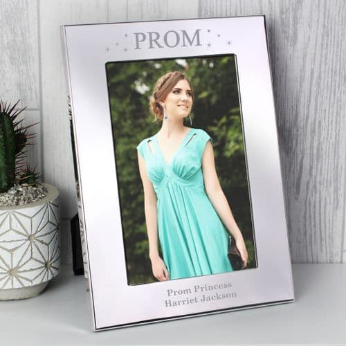 Personalised Prom Night Silver 4x6 Photo Frame