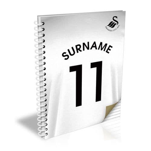 Personalised Swansea City AFC Shirt Notebook