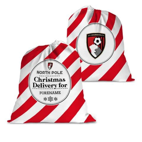 Personalised AFC Bournemouth Christmas Delivery Santa Sack