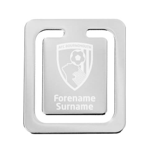 Personalised AFC Bournemouth Crest Bookmark