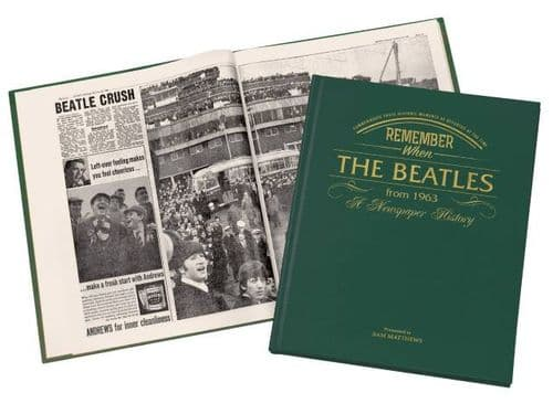 Personalised Beatles - A Newspaper History Book