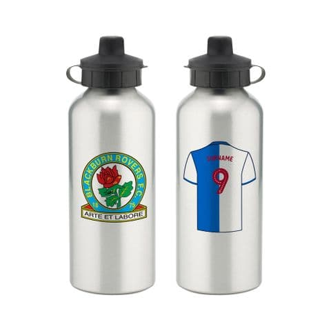 Personalised Blackburn Rovers FC Aluminium Water Bottle