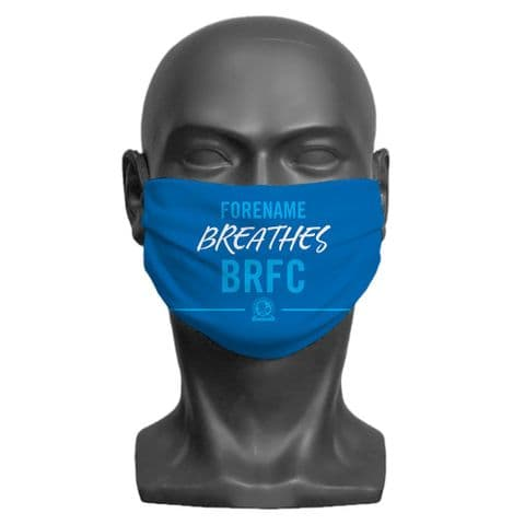 Personalised Blackburn Rovers FC Breathes Adult Face Covering / Mask