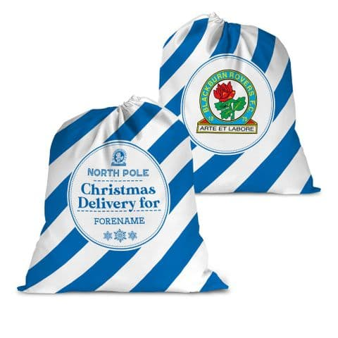 Personalised Blackburn Rovers FC Christmas Delivery Santa Sack