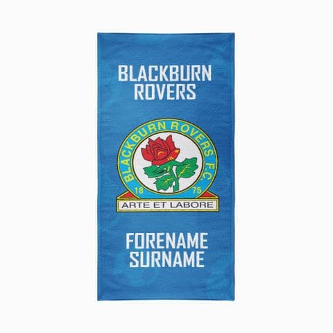 Personalised Blackburn Rovers FC Crest Design Towel