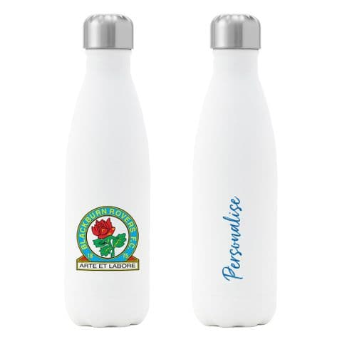 Personalised Blackburn Rovers FC Crest Insulated Water Drink Bottle