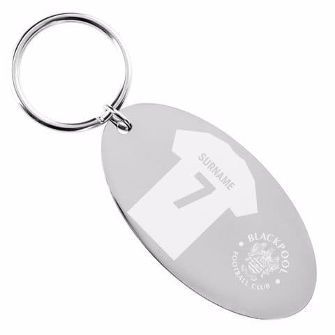 Personalised Blackpool FC Shirt Keyring