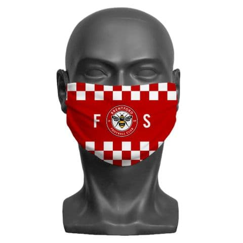 Personalised Brentford FC Initials Adult Face Covering / Mask