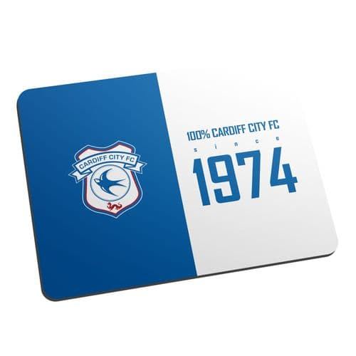 Personalised Cardiff City FC 100 Percent Mouse Mat