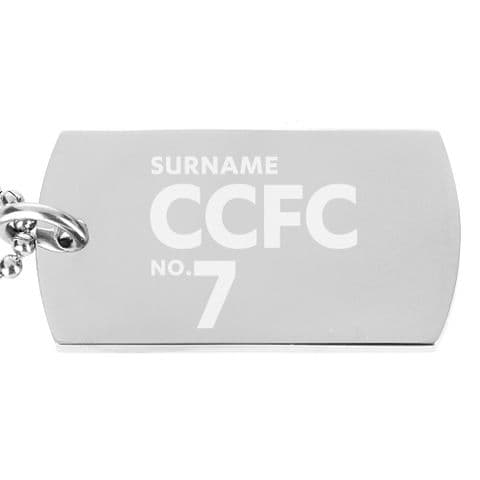 Personalised Cardiff City FC Number Dog Tag Pendant