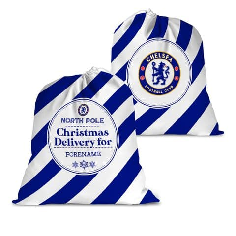 Personalised Chelsea FC Christmas Delivery Santa Sack