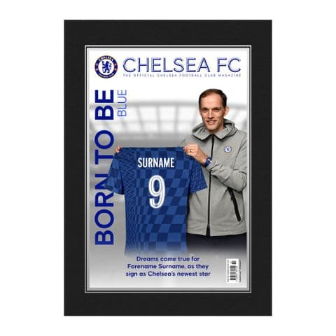 Personalised Chelsea FC Magazine Front Cover Photo