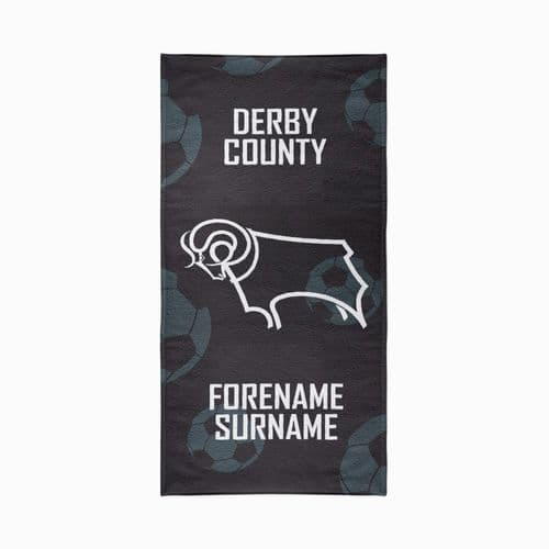 Personalised Derby County FC Crest Design Towel