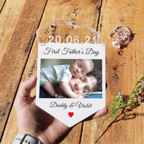 Personalised First Father's Day Hanging Decoration