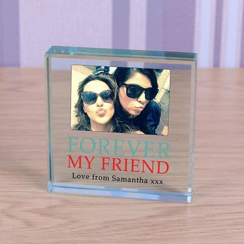 Personalised Forever My Friend Photo Glass Token