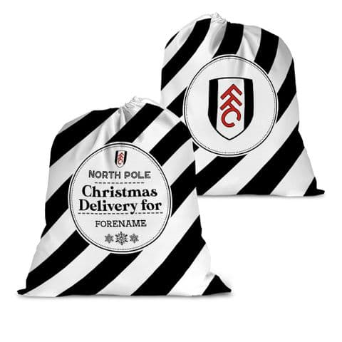 Personalised Fulham FC Christmas Delivery Santa Sack