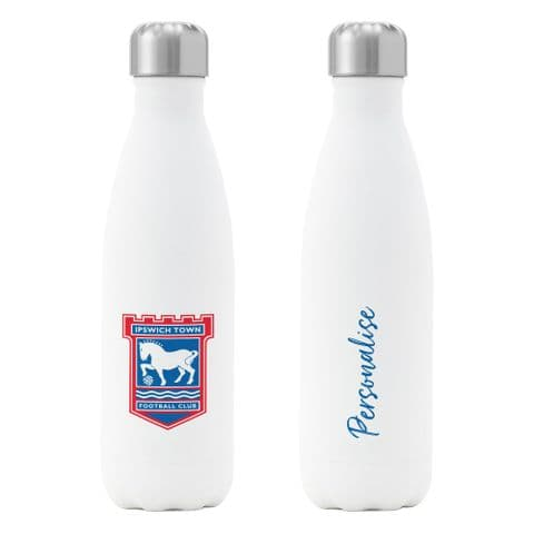 Personalised Ipswich Town FC Crest Insulated Water Drink Bottle