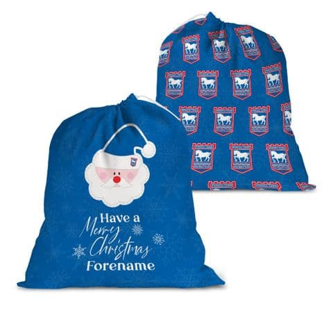 Personalised Ipswich Town FC Merry Christmas Santa Sack