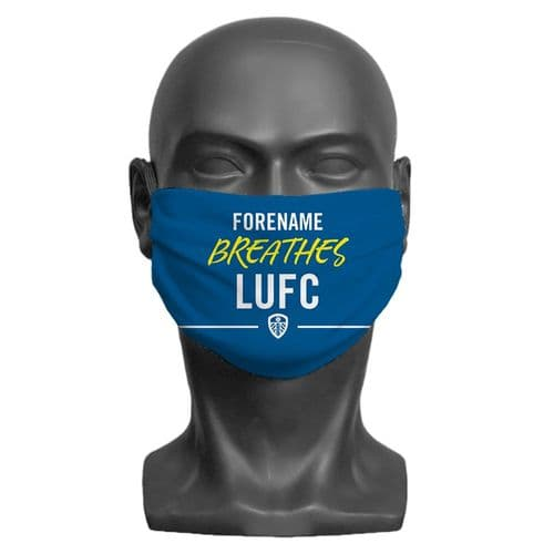 Personalised Leeds United FC Breathes Adult Face Covering / Mask