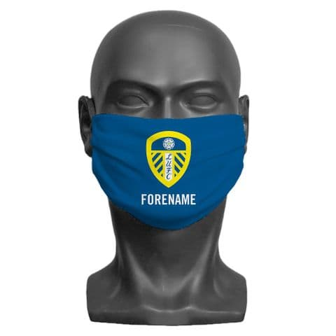 Personalised Leeds United FC Crest Adult Face Covering / Mask