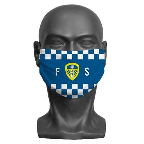 Personalised Leeds United FC Initials Adult Face Covering / Mask