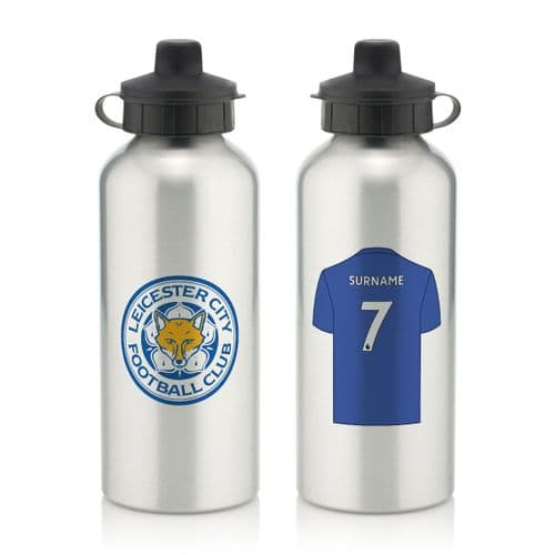 Personalised Leicester City FC Aluminium Water Bottle