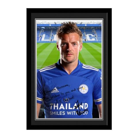 Personalised Leicester City FC Jamie Vardy Autograph Photo
