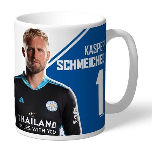 Personalised Leicester City FC Kasper Schmeichel Autograph Mug