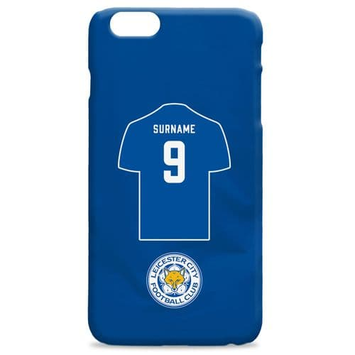 Personalised Leicester City FC Shirt Hard Back Phone Case
