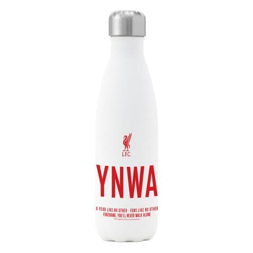 Personalised Liverpool FC Champions 2020 YNWA Insulated Water Bottle