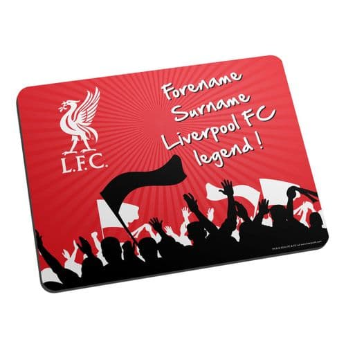 Personalised Liverpool FC Legend Mouse Mat