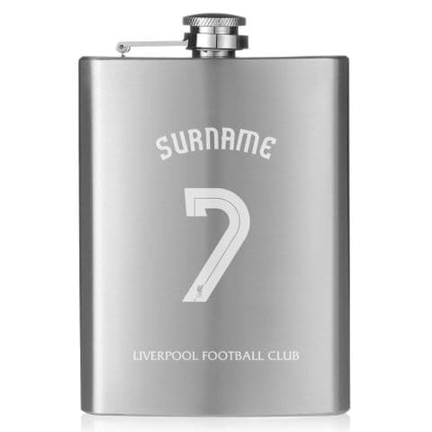 Personalised Liverpool FC Shirt Hip Flask