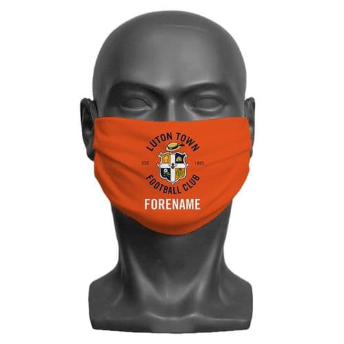 Personalised Luton Town FC Crest Adult Face Covering / Mask