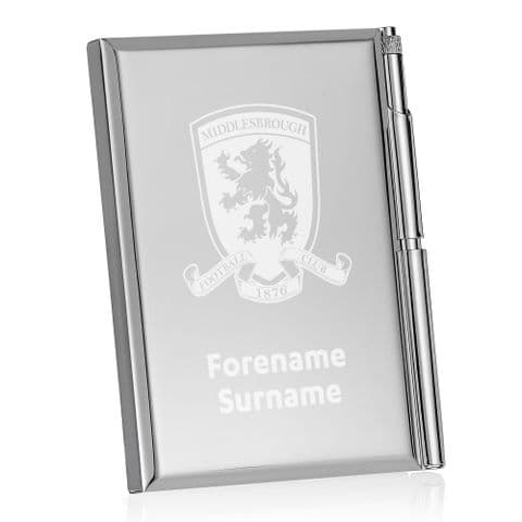 Personalised Middlesbrough FC Crest Address Book